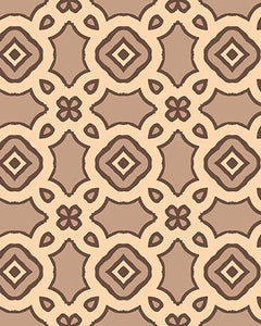 The Tiffany Print-at-Home Art Print in Coffee - Digital Download-Clash Patterns