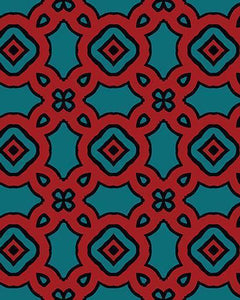 The Tiffany Print-at-Home Art Print in Rust - Digital Download-Clash Patterns