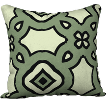 Load image into Gallery viewer, The Tiffany Reversible Pillow in Avocado Green