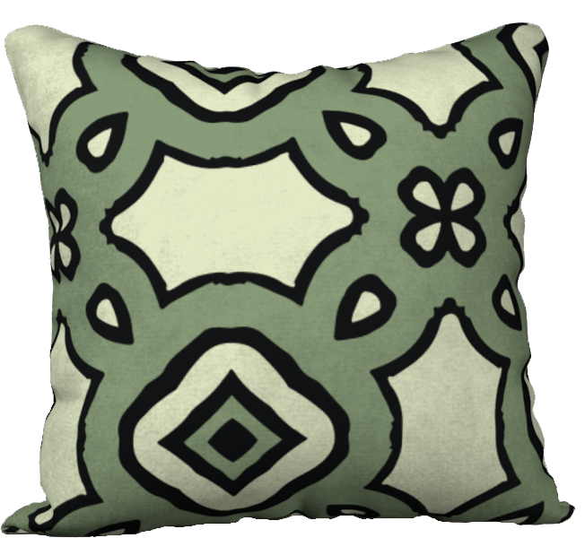 The Tiffany Reversible Pillow in Avocado Green