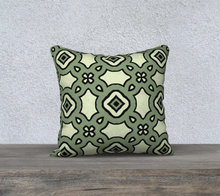 Load image into Gallery viewer, The Tiffany Reversible Pillow in Avocado Green-Clash Patterns