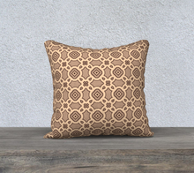 Load image into Gallery viewer, The Tiffany Reversible Pillow in Coffee-Clash Patterns