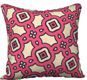 The Tiffany Reversible Pillow in Pink Lemonade