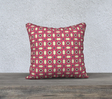 Load image into Gallery viewer, The Tiffany Reversible Pillow in Pink Lemonade-Clash Patterns