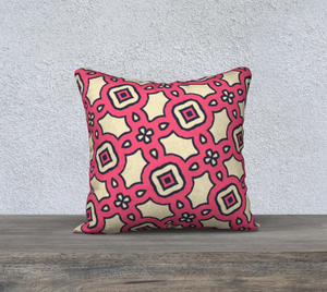 The Tiffany Reversible Pillow in Pink Lemonade-Clash Patterns