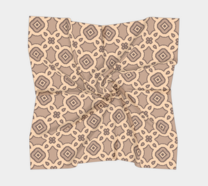 The Tiffany Square Scarf in Coffee