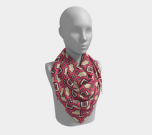 Load image into Gallery viewer, The Tiffany Square Scarf in Pink Lemonade-Clash Patterns