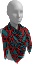 Load image into Gallery viewer, The Tiffany Square Scarf in Red and Teal