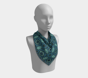 The Tiffany Square Scarf in Teal