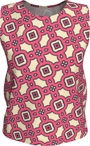 The Tiffany Tank Top in Pink Lemonade-Loose Tank Top (Regular)-Clash Patterns by Jennifer Akkermans