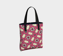 Load image into Gallery viewer, The Tiffany Tote Bag in Pink Lemonade-Clash Patterns