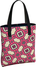 Load image into Gallery viewer, The Tiffany Tote Bag in Pink Lemonade-Tote Bag-Clash Patterns by Jennifer Akkermans