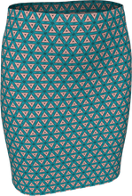 Load image into Gallery viewer, The Tracy Fitted Skirt in Teal and Coral