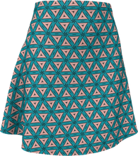 Load image into Gallery viewer, The Tracy Flare Skirt in Teal and Coral