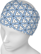 Load image into Gallery viewer, The Tracy Headband in Blue and White
