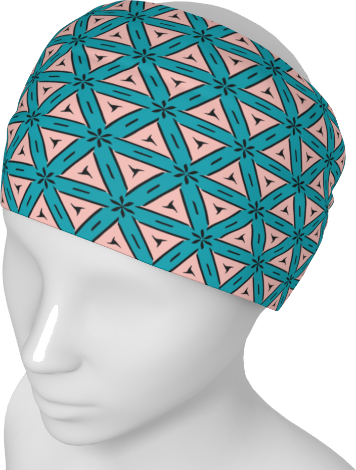 The Tracy Headband in Teal and Coral