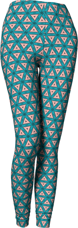 The Tracy Leggings in Teal and Coral