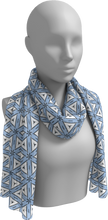 Load image into Gallery viewer, The Tracy Long Scarf in Blue and White