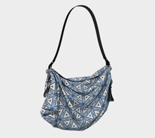 Load image into Gallery viewer, The Tracy Origami Bag in Blue and White-Clash Patterns