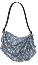 Load image into Gallery viewer, The Tracy Origami Bag in Blue and White