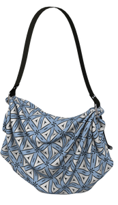The Tracy Origami Bag in Blue and White