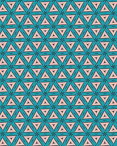 The Tracy Print-at-Home Art Print in Teal and Coral - Digital Download-Clash Patterns