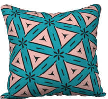 Load image into Gallery viewer, The Tracy Reversible Pillow in Teal and Coral