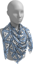 Load image into Gallery viewer, The Tracy Square Scarf in Blue and White