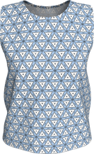 Load image into Gallery viewer, The Tracy Tank Top in Blue and White-Loose Tank Top (Regular)-Clash Patterns by Jennifer Akkermans