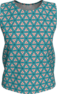The Tracy Tank Top in Teal and Coral