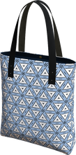 Load image into Gallery viewer, The Tracy Tote Bag in Blue and White