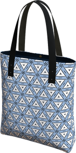 The Tracy Tote Bag in Blue and White