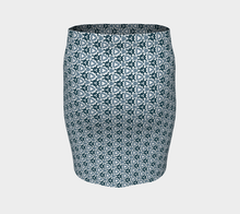 Load image into Gallery viewer, The Veronica Fitted Skirt in Neutrals-Clash Patterns