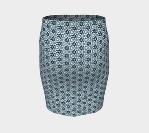 The Veronica Fitted Skirt in Neutrals-Clash Patterns