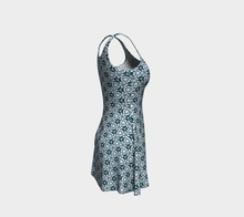 Load image into Gallery viewer, The Veronica Flare Dress in Neutrals-Clash Patterns