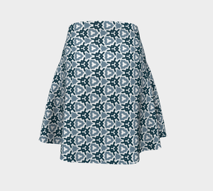 The Veronica Flare Skirt in Neutrals-Clash Patterns