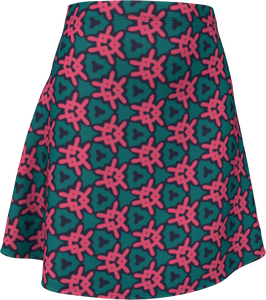 The Veronica Flare Skirt in Watermelon-Flare Skirt-Clash Patterns by Jennifer Akkermans