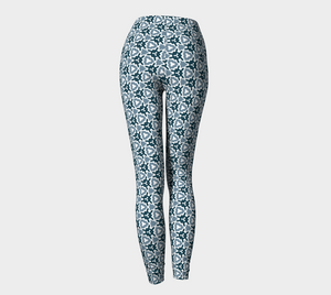 The Veronica Leggings in Neutrals-Clash Patterns