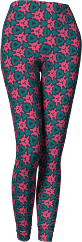 The Veronica Leggings in Watermelon-Leggings-Clash Patterns by Jennifer Akkermans