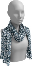 Load image into Gallery viewer, The Veronica Long Scarf in Neutrals-Long Scarf-Clash Patterns by Jennifer Akkermans