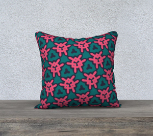 The Veronica Reversible Pillow in Watermelon-Clash Patterns