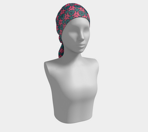 The Veronica Square Scarf in Watermelon-Clash Patterns