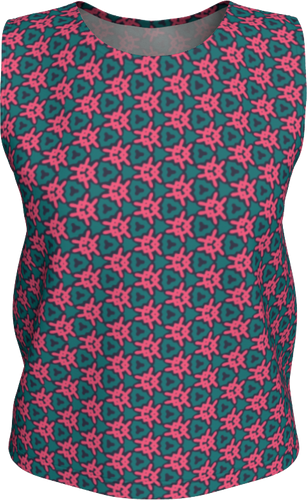 The Veronica Tank Top in Watermelon-Loose Tank Top (Regular)-Clash Patterns by Jennifer Akkermans