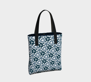 The Veronica Tote Bag in Neutrals-Clash Patterns