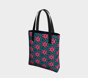 The Veronica Tote Bag in Watermelon-Clash Patterns