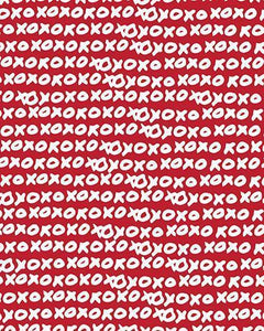 The X's and O's Print-at-Home Art Print in Red - Digital Download-Clash Patterns
