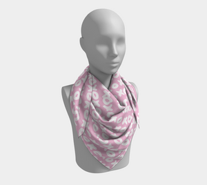 The X's and O's Square Scarf in Light Pink