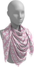 Load image into Gallery viewer, The X's and O's Square Scarf in Light Pink