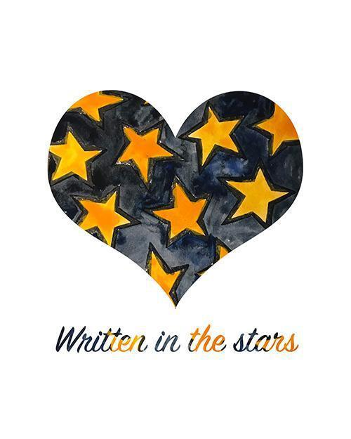 Written In The Stars (dark) - Print-at-Home Art Print - Digital Download-Clash Patterns
