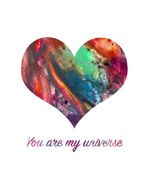 You Are My Universe - Print-at-Home Art Print - Digital Download-Clash Patterns